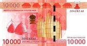 10,000 Francs CFP -  obverse