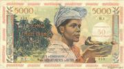 50 nouveaux francs sur 5000 Francs Antillaise – obverse