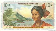 10 Nouveaux Francs – obverse