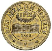 5 Batzens (Fribourg Jesuit School) – obverse