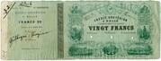 20 Francs (Crédit Gruyèrien) – obverse