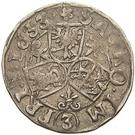 3 Kreuzer - Albrecht von Wallenstein – reverse