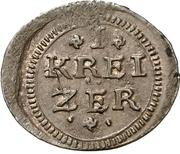 1 Kreuzer (Kipper) – reverse