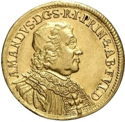 1 Ducat - Amand of Buseck (Millennial of the abbey) – obverse