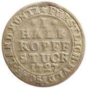 ½ Kopfstück - Adolph of Dalberg – reverse