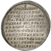 1 Thaler - Bernhard Gustav of Baden-Durlach – reverse