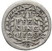 6 Pfennig - Adolf von Dalberg – reverse