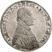 ½ Thaler - Adalbert III of Harstall – obverse