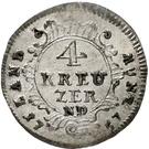 4 Kreuzer - Adalbert II of Walderdorff – reverse