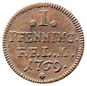 1 Pfenning - Heinrich VIII of Bibra – reverse