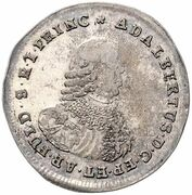 ⅙ Thaler - Adalbert II of Walderdorff – obverse