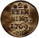 2 Pfenning - Heinrich VIII of Bibra – reverse