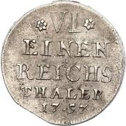 ⅙ Thaler - Adalbert II of Walderdorff – reverse