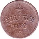 ½ Kreutzer - Joseph Wenzel – reverse