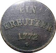 1 Kreuzer - Joseph Wenzel – reverse