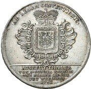 1 Thaler - Joseph Wilhelm Ernst (St. Sophia Ausbeute) – reverse