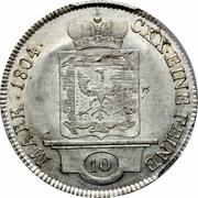 10 Kreuzer - Karl Joachim – reverse