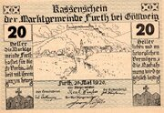 20 Heller (Furth bei Göttweig; Grey green issue) -  obverse