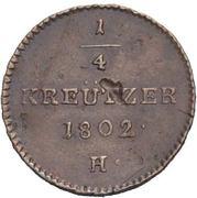 ¼ Kreutzer - Franz II – reverse