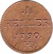 1 Heller - Joseph II / Leopold II – reverse
