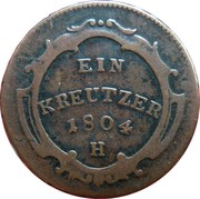 1 Kreutzer - Franz II -  reverse