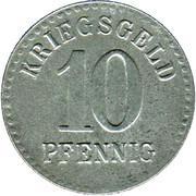 10 Pfennig - Furtwangen – reverse