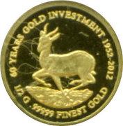 1000 Francs (Gold Bullion Coinage) – reverse