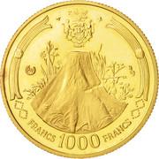 1000 Francs (Bongo) – reverse
