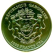 "1000 Francs CFA (African Springbok; ""Golden Enigma"") – obverse"