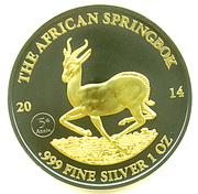 "1000 Francs CFA (African Springbok; ""Golden Enigma"") – reverse"