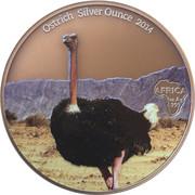 1000 Francs CFA (Ostrich) – reverse