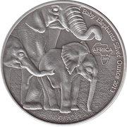 1000 Francs (Baby Elephants) – reverse