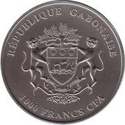1000 Francs CFA (Ostrich; Silver Bullion) – obverse