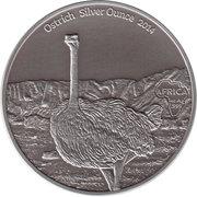 1000 Francs CFA (Ostrich; Silver Bullion) – reverse