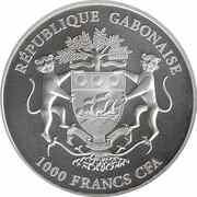 1000 Francs CFA (African Springbok) – obverse