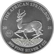 1000 Francs CFA (African Springbok) – reverse