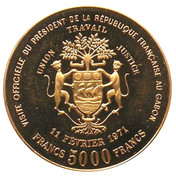 5000 Francs (Georges  Pompidou - essai) – obverse
