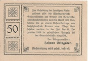 50 Heller (Gallneukirchen) – reverse