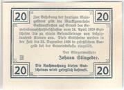 20 Heller (Gallneukirchen) -  reverse