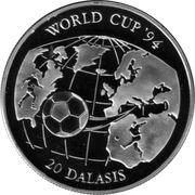 20 Dalasis (World Cup '94) – reverse