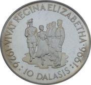 10 Dalasis (Inspecting the Guard of Honour) – reverse