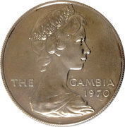 8 Shillings - Elizabeth II (2nd Portrait; Silver Proof Issue) – obverse