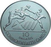 10 Dalasis (XIII Commonwealth Games) – reverse