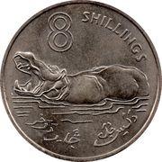 8 Shillings - Elizabeth II (2nd portrait) – reverse