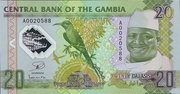 20 Dalasis (20 Years of Yahya Jammeh's Dictatorship) – obverse
