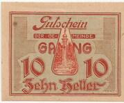 10 Heller (Gaming) -  obverse