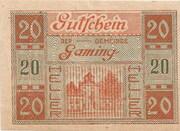 20 Heller (Gaming) – obverse