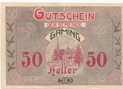 50 Heller (Gaming) – obverse