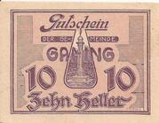 10 Heller (Gaming) – obverse