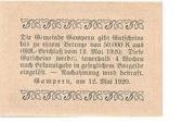 10 Heller (Gampern) -  reverse